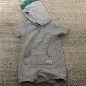 Carters boys romper with dinosaur hoodie